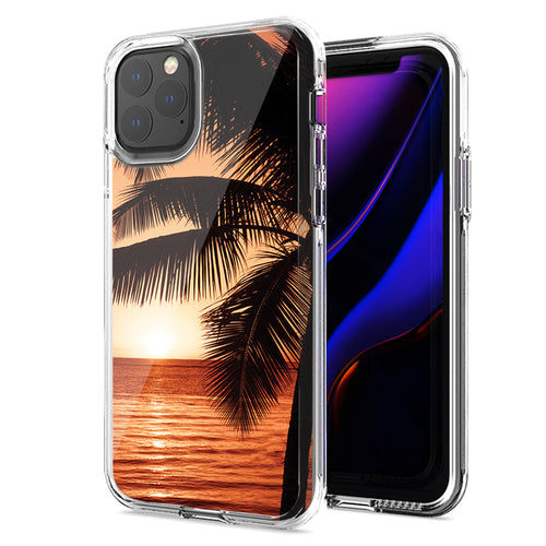 Apple iPhone 11 Pro Max Paradise Sunset Design Double Layer Phone Case Cover