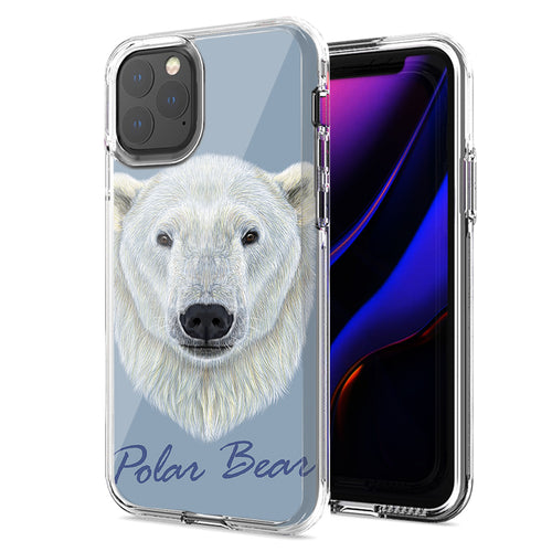 Apple iPhone 11 Polar Bear Design Double Layer Phone Case Cover