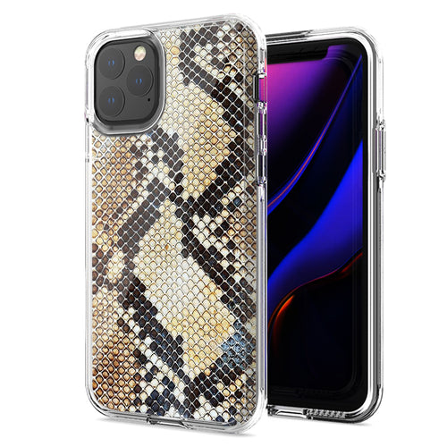 Apple iPhone 11 Snake Skin Design Double Layer Phone Case Cover