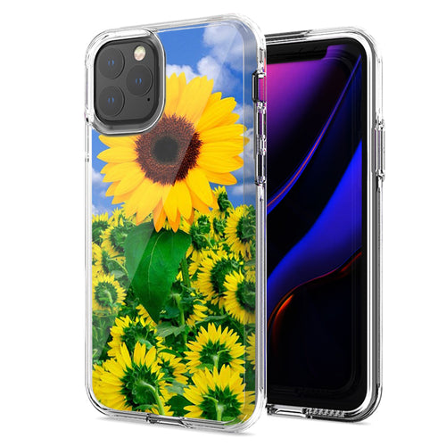 Apple iPhone 11 Pro Max Sunflowers Design Double Layer Phone Case Cover