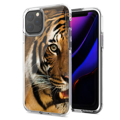 Apple iPhone 12 Mini Tiger Face Design Double Layer Phone Case Cover