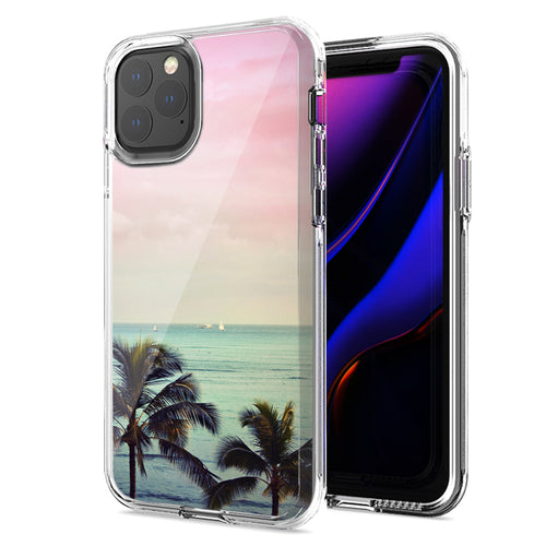 Apple iPhone 11 Pro Max Vacation Dreaming Design Double Layer Phone Case Cover