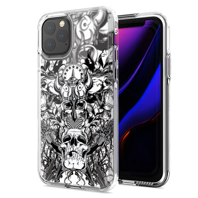 Apple iPhone 12 Mini Viking Skull Design Double Layer Phone Case Cover