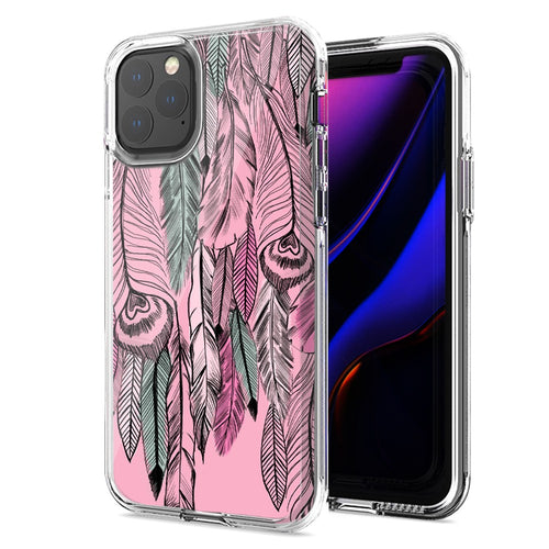 Apple iPhone 11 Wild Feathers Design Double Layer Phone Case Cover