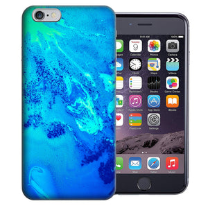 "Apple iPhone 7 & iPhone 8 4.7"" Blue Abstract Paint Design TPU Gel Phone Case Cover"