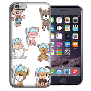 "Apple iPhone 7 & iPhone 8 4.7"" Cute Baby Animals Design TPU Gel Phone Case Cover"