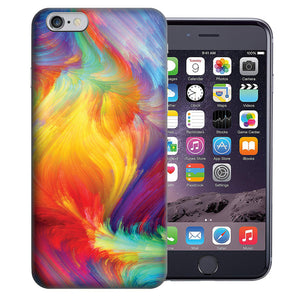 "Apple iPhone 7 & iPhone 8 4.7"" Feather Paint Design TPU Gel Phone Case Cover"