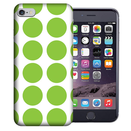 Apple iPhone 7 / 8 4.7 Inch Custom UV Printed Design Case - Green White Polkadot Design Cover