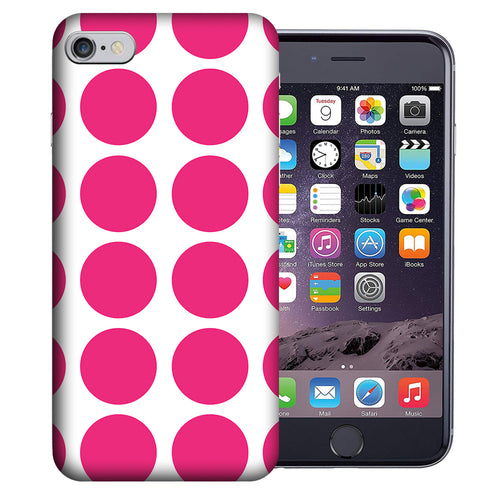Apple iPhone 7 / 8 4.7 Inch Custom UV Printed Design Case - Pink White Polkadot Design Cover