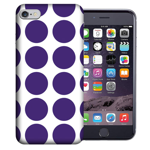 Apple iPhone 7 / 8 4.7 Inch Custom UV Printed Design Case - Purple White Polkadot Design Cover