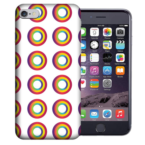 Apple iPhone 7 / 8 4.7 Inch Custom UV Printed Design Case - Rainbow Donuts Design Cover