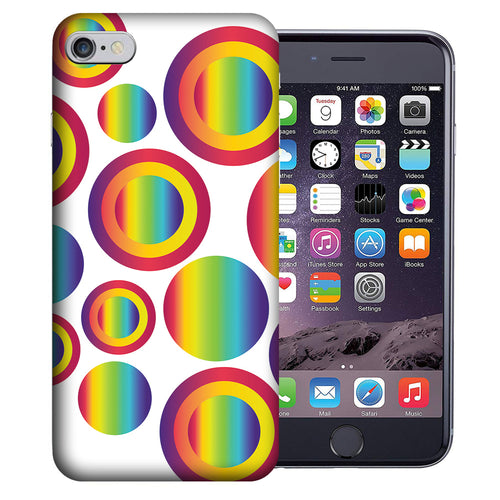 Apple iPhone 7 / 8 4.7 Inch Custom UV Printed Design Case - Rainbow Bubbles Design Cover