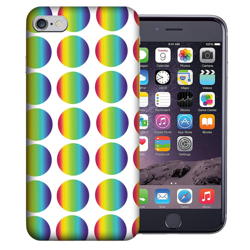 Apple iPhone 7 / 8 4.7 Inch Custom UV Printed Design Case - Rainbow Polkadot Design Cover