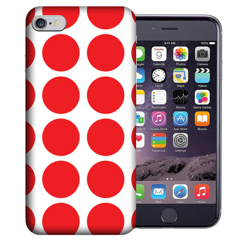 Apple iPhone 7 / 8 4.7 Inch Custom UV Printed Design Case - Red White Polkadot Design Cover