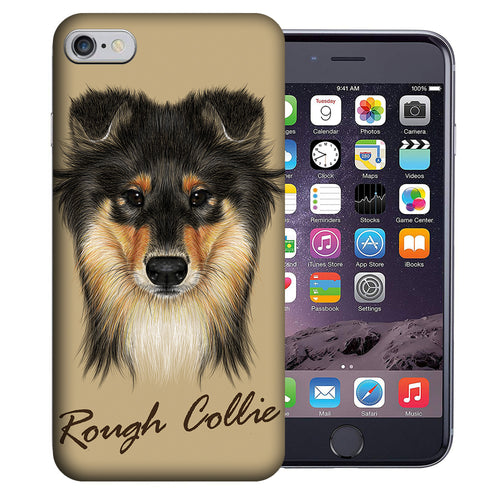 Apple iPhone 7 / 8 4.7 Inch Custom UV Printed Design Case - Rough Collie Realistic Art Design Cover