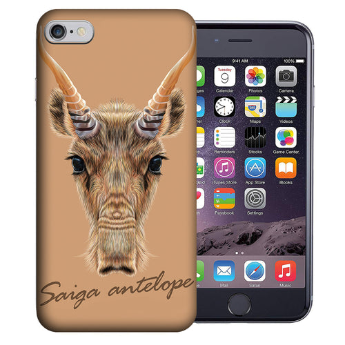 Apple iPhone 7 / 8 4.7 Inch Custom UV Printed Design Case - Saiga Antelope Realistic Art Design Cover