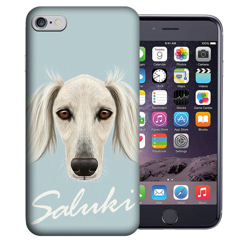 Apple iPhone 7 / 8 4.7 Inch Custom UV Printed Design Case - Saluki Dog Realistic Art Design Cover