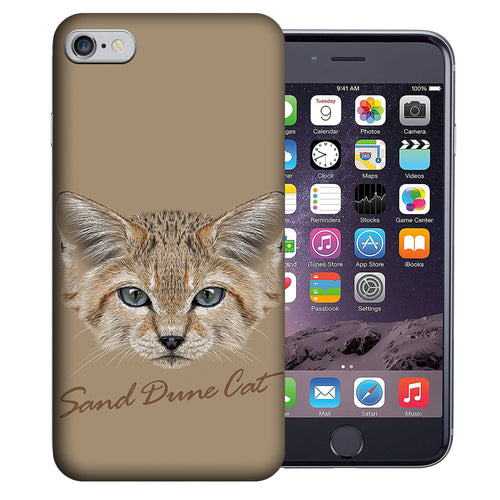 Apple iPhone 7 / 8 4.7 Inch Custom UV Printed Design Case - Sand Dune Cat Realistic Art Design Cover