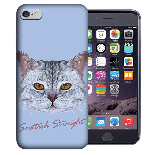 Apple iPhone 7 / 8 4.7 Inch Custom UV Printed Design Case - Scottish Straight Cat Realistic Art Design Cover