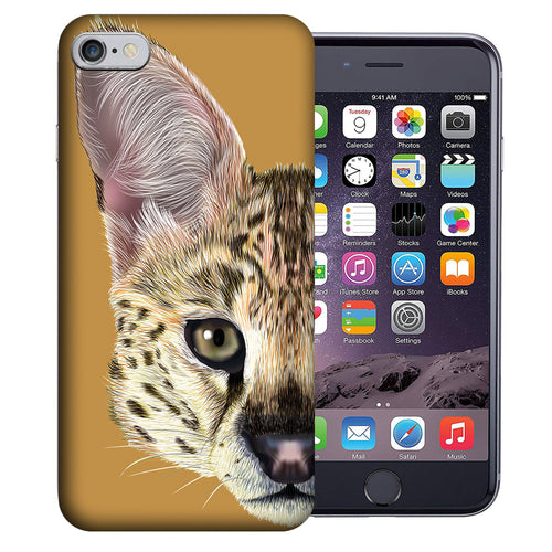 Apple iPhone 7 / 8 4.7 Inch Custom UV Printed Design Case - Serval Cat Realistic Art Design Cover