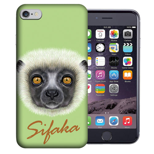 Apple iPhone 7 / 8 4.7 Inch Custom UV Printed Design Case - Sifaka Realistic Art Design Cover