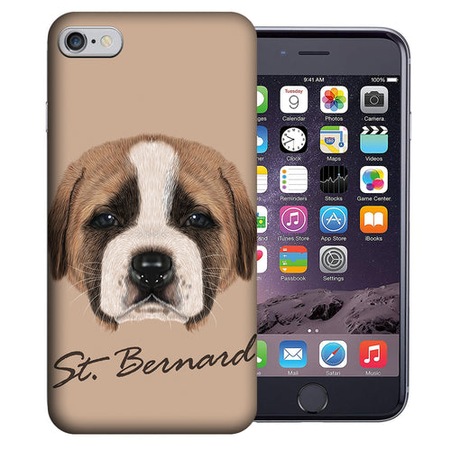 Apple iPhone 7 / 8 4.7 Inch Custom UV Printed Design Case - Saint Bernard Puppy Realistic Art Design Cover