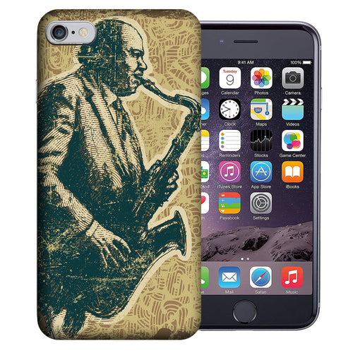 Apple iPhone 7 / 8 4.7 Inch Custom UV Printed Design Case - Vintage Jazz Saxophone Design Cover
