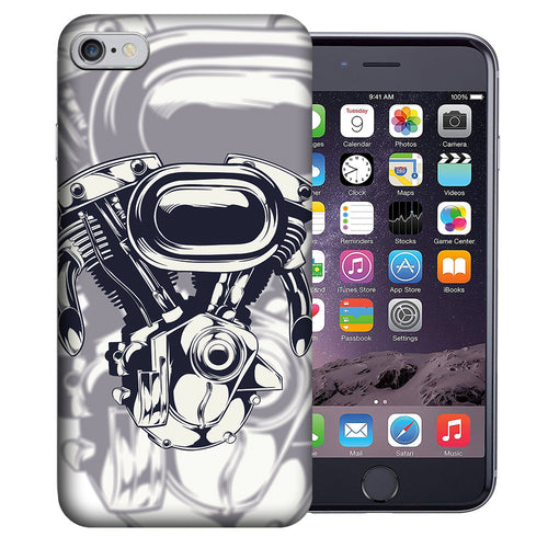Apple iPhone 7 / 8 4.7 Inch Custom UV Printed Design Case - Vtwin Engine Chopper Design Cover