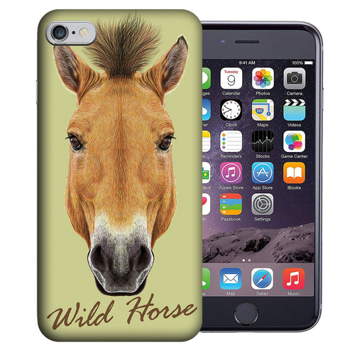 Apple iPhone 7 / 8 4.7 Inch Custom UV Printed Design Case - Wild Horse Realistic Art Design Cover