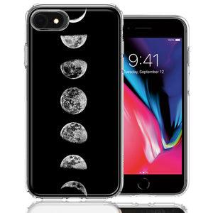 Apple iPhone 7/8/SE Moon Transitions Design Double Layer Phone Case Cover