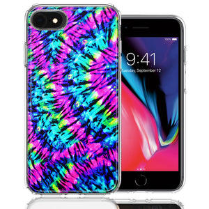 Apple iPhone 7/8/SE Hippie Tie Dye Design Double Layer Phone Case Cover