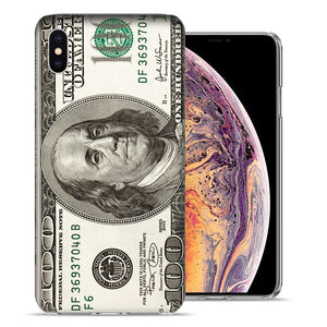 Apple iPhone XS Max 6.5 inch Hundred Dollar Bill Design TPU Gel Phone Case Cover