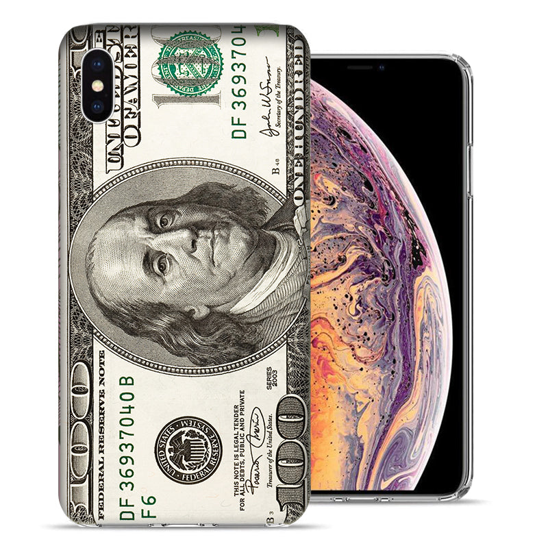 Apple iPhone XS And X Hundred Dollar Bill Design TPU Gel Phone Case Cover