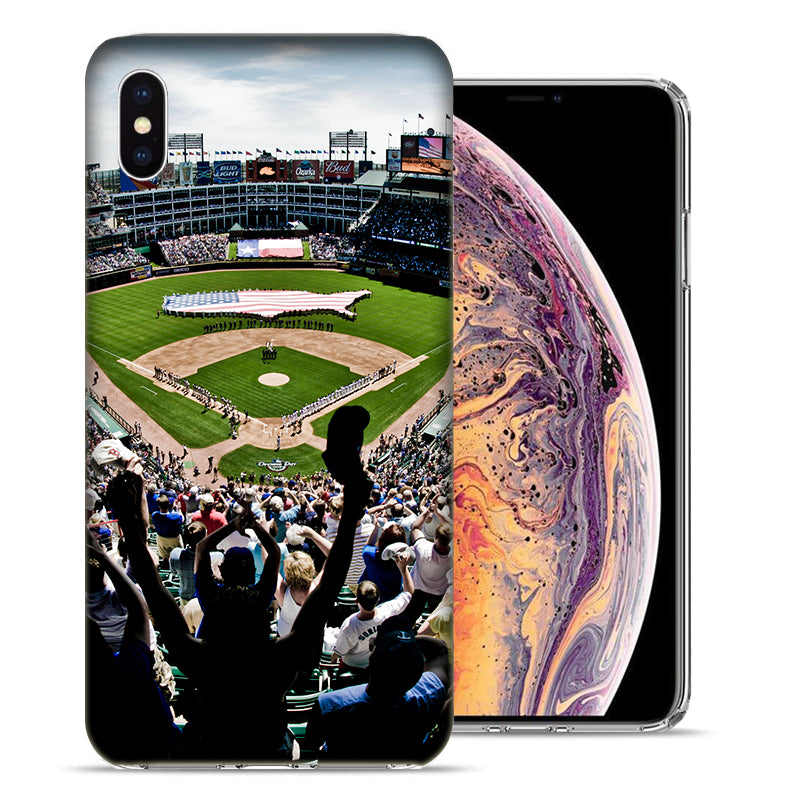 Apple iPhone XS And X Baseball Park Stadium Design TPU Gel Phone Case Cover