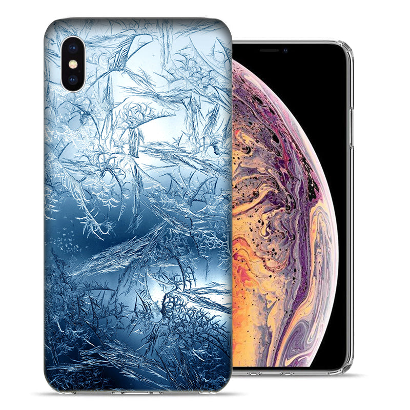 Apple iPhone XR 6.1 inch Blue Ice Design TPU Gel Phone Case Cover