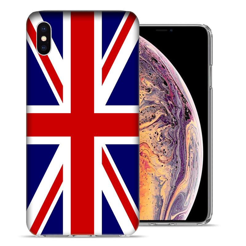 Apple iPhone XR 6.1 inch England British Flag Design TPU Gel Phone Case Cover