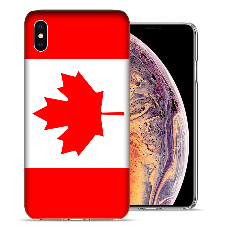 Apple iPhone XS And X Canada Flag Design TPU Gel Phone Case Cover