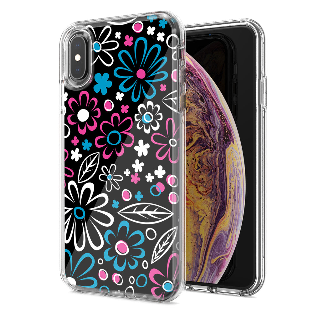 Apple iPhone XS And X Cute Daisies Design Double Layer Phone Case Cover