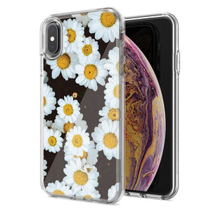 Apple iPhone XS Max Cute Daisy Flower Design Double Layer Phone Case Cover