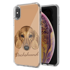 Apple iPhone XR Dachshund Design Double Layer Phone Case Cover