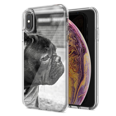 Apple iPhone XS Max French Bulldog Design Double Layer Phone Case Cover