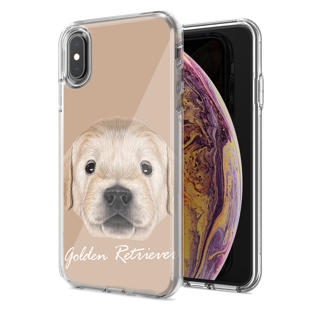 Apple iPhone XS And X Golden Retriever Design Double Layer Phone Case Cover