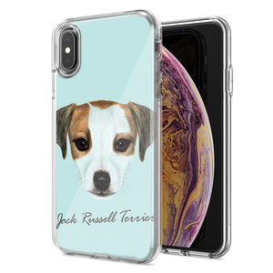 Apple iPhone XS Max Jack Russell Design Double Layer Phone Case Cover
