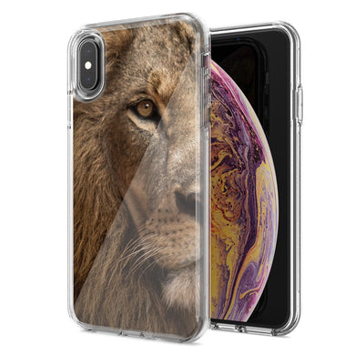 Apple iPhone XS Max Lion Face Nosed Design Double Layer Phone Case Cover