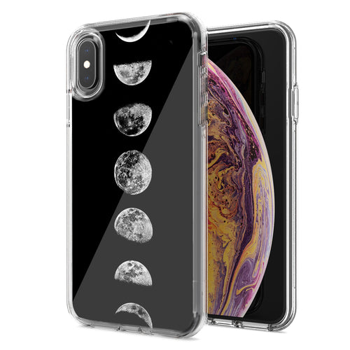 Apple iPhone XR Moon Transitions Design Double Layer Phone Case Cover