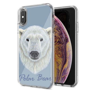 Apple iPhone XR Polar Bear Design Double Layer Phone Case Cover