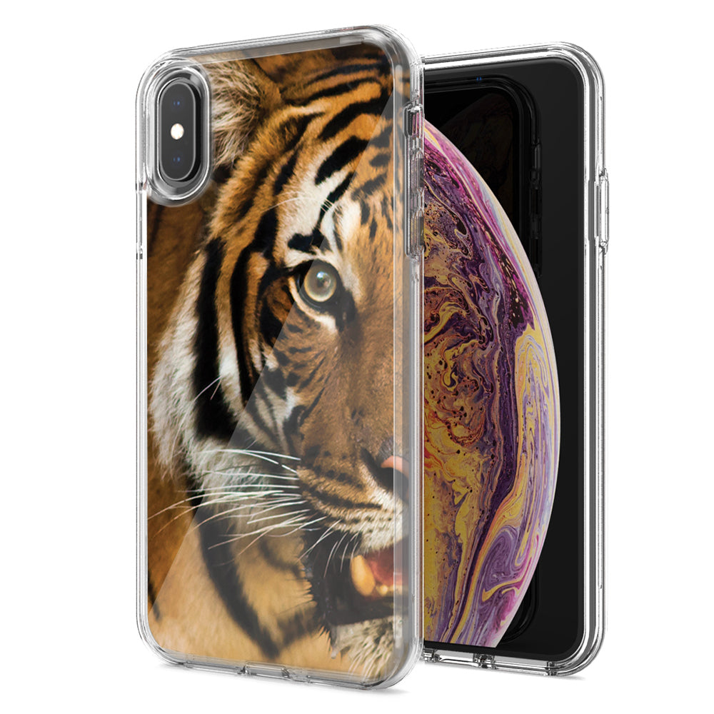 Apple iPhone XR Tiger Face Design Double Layer Phone Case Cover
