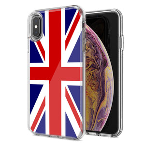 Apple iPhone XS Max UK England British Flag Design Double Layer Phone Case