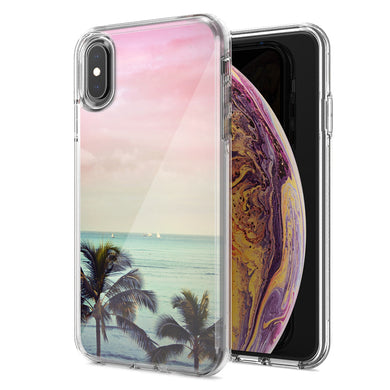Apple iPhone XS Max Vacation Dreaming Design Double Layer Phone Case Cover