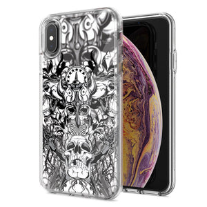 Apple iPhone XS Max Viking Skull Design Double Layer Phone Case Cover